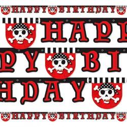 Гірлянда Happy Birthday  Пірат