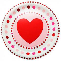 Тарілки Серце 8шт/уп