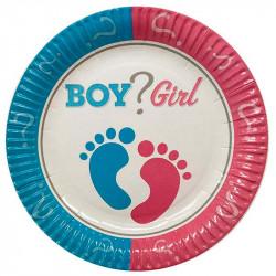 Тарелки BOY ? GIRL 8шт/уп