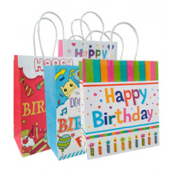 Подарунковий пакет Happy  Birthday асорті 27,5*21*10см 6715 Китай
