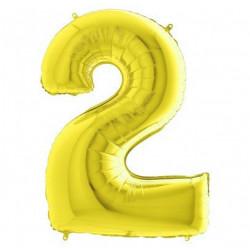 Кулька цифра 2 золото