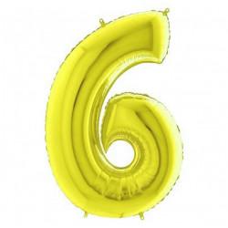 Кулька цифра 6 золото