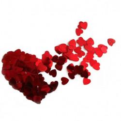 Конфеті сердечка червоні 25г
