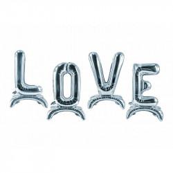 Кульки Букви love срібні