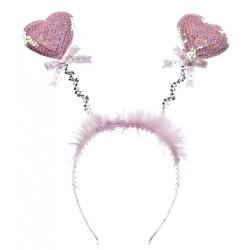 Обруч серця  рожеві
