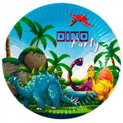 Тарілки Динозаври 8шт/уп