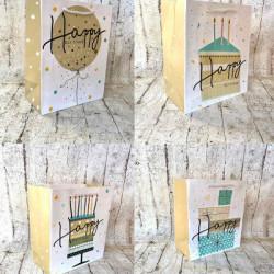 Подарунковий пакет Happy Birthday  блисківками 23*18*10см 1621 Китай