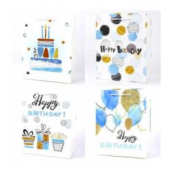 Подарунковий пакет Happy Birthday  блисківками асорті 30*44*12см 42333 Китай