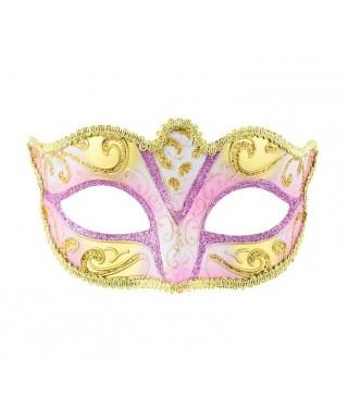 Карнавальная Маска Венеция розовая