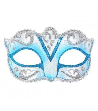 Карнавальна Маска Венеция голубая