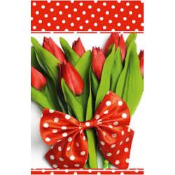 Подарунковий пакет Тюльпани з бантом