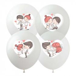 Кульки поштучно з малюнком Love is
