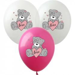 Кульки поштучно Тедді з серцем