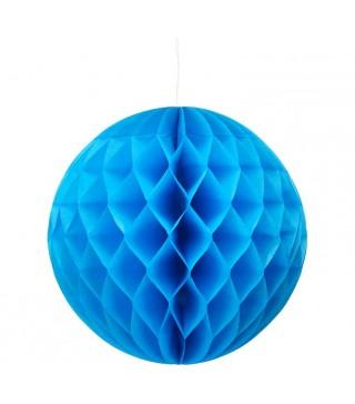 Бумажный шар-соты синий 30см