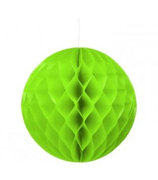 Бумажный шар-соты салатовый 30см