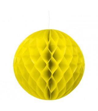 Бумажный шар-соты желтый 30см