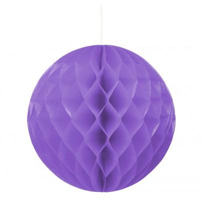 Бумажный шар-соты фиолетовый 30см