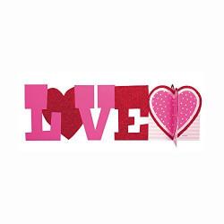 Декорація на стіл Love 1шт/уп