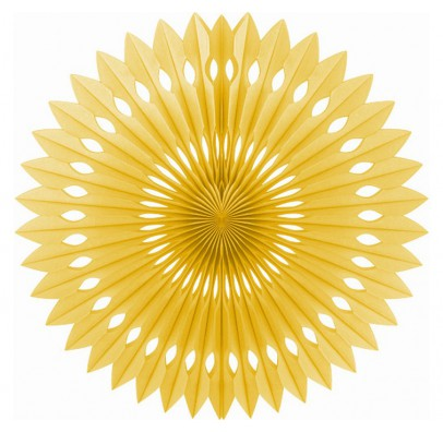 Бумажный веер (фант) золотой 40 см