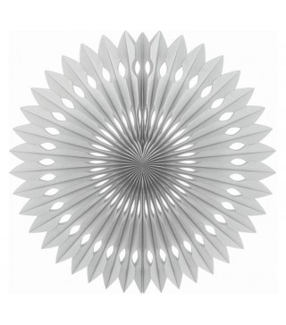 Паперова розетка срібна 40 см
