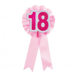 Значок 18 рожевий