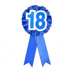 Значок 18 синій
