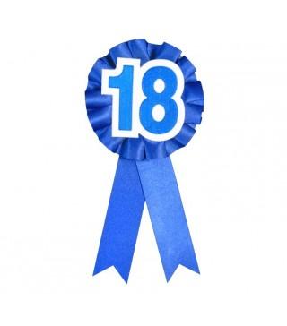 Значок 18 синий