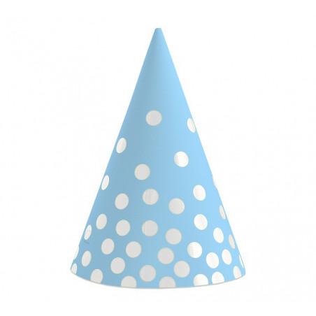 Колпачок Голубой в серебрянный горох 6шт / уп
