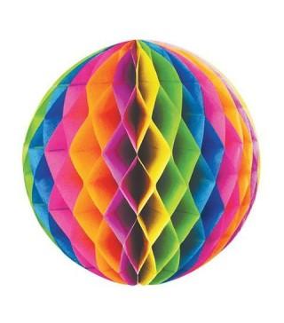 Бумажные шары-соты Радуга 25см,3шт/уп