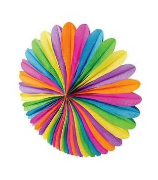 Бумажный веер (фант) радуга 48 см