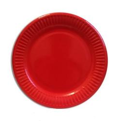 Тарілки червоні 8шт/уп