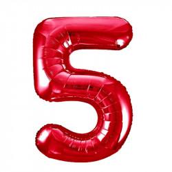 Кулька Цифра 5 червона