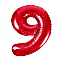 Кулька Цифра 9червона