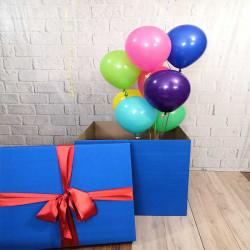 Коробка - сюрприз однотонна