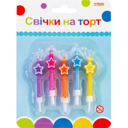 Свічки кольорові зірки 10шт/уп