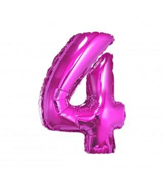 Кулька цифра 4 (85см) рожева