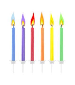 Свічки з кольоровими вогниками 6шт/уп