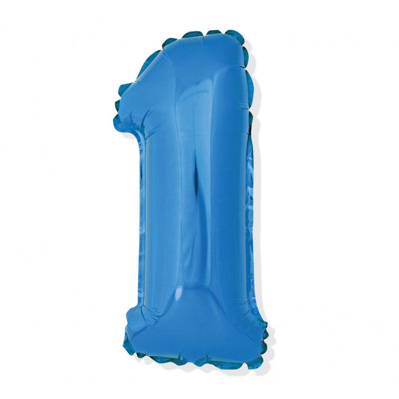 Шарик цифра 1 (85см) blue