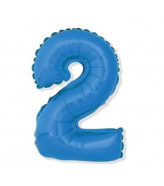 Шарик цифра 2 (85см) blue