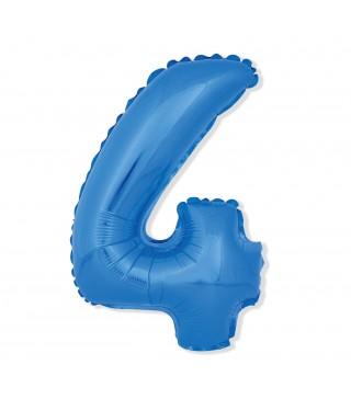 Шарик цифра 4 (85 см) blue