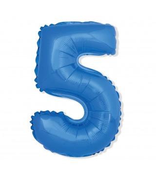 Кулька цифра 5 (85 см) блакитна