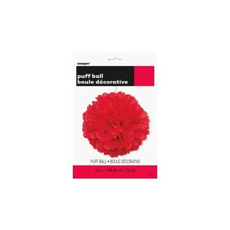 Помпон красный 40.6см