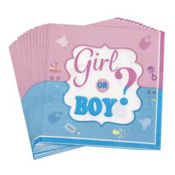 Серветки Girl or Boy 16 шт./уп. папір 9903 Китай