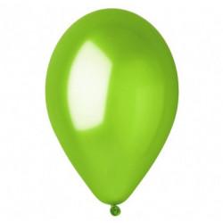"Кульки поштучно з малюн. 10"" металік зелений латекс Ш-03860 Globos"