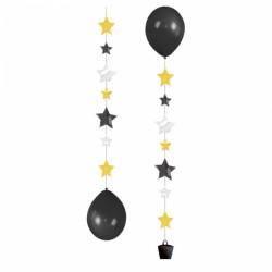 Декорація Підвіска до кульки Зірочки з коробк 3 стрічки по 1м 9902240 Amscan