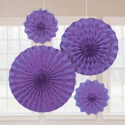 Розетка паперова фіолетова 4шт/уп
