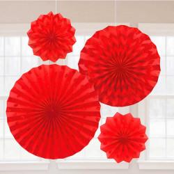 Паперова розетка червона