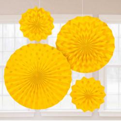 Розетка паперова жовта набір 4шт/уп
