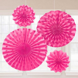 Розетка паперова рожева набір 4шт/уп