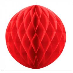 Паперова куля-соти Сфера червона 30см